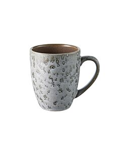 Bitz mok 300 ml aardewerk mat grijs/glanzend grijs
