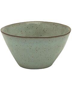 Kitchen Trend Stone kom ø 15 cm aardewerk zeegroen
