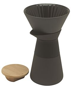 Stelton Theo koffiefilterkan 600 ml aardewerk zwart