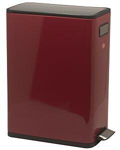 Wesco Big Double Master afvalemmer 2 x 20 liter rvs rood