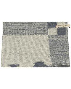 Knit Factory handdoek grachtenpanden 50 x 50 cm katoen acryl Jeans ecru
