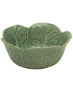Oldenhof koolblad schaal ø 29,5 cm aardewerk groen