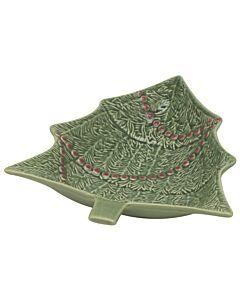 Oldenhof kerstboom schaal 27,5 x 23,5 cm aardewerk groen