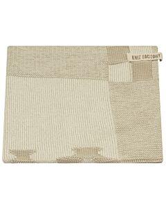 Knit Factory handdoek grachtenpanden 50 x 50 cm katoen acryl Linnen ecru