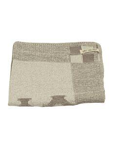 Knit Factory handdoek grachtenpanden 50 x 50 cm katoen acryl Taupe ecru