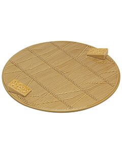 Oldenhof kaasplateau ø 32 cm aardewerk geel