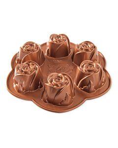 Nordic Ware Rosebud bakvorm ø 26 cm gietaluminium koperkleurig