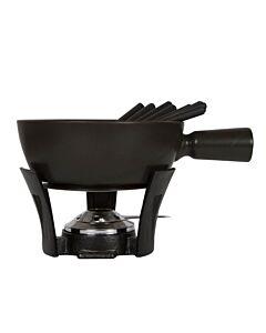 Boska Nero kaasfondueset 2,2 liter aardewerk zwart