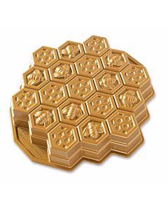 Nordic Ware bijenraat bakvorm 30,5 cm gietaluminium goudkleurig