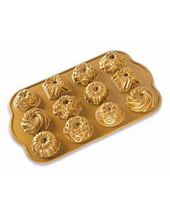 Nordic Ware Bundt Charms 12 stuks 30,2 cm gietaluminium goudkleurig