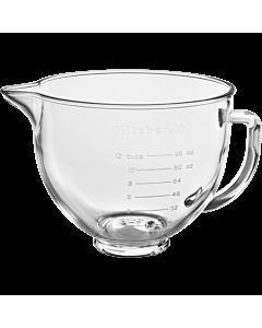 KitchenAid mengkom 4,8 liter glas met silicone deksel