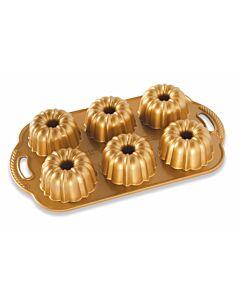 Nordic Ware Anniversary Bundtlette kleine-tulbandvorm 6 stuks gietaluminium goudkleurig
