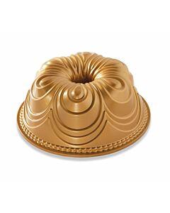 Nordic Ware Chiffon Bundt tulbandvorm ø 24 cm aluminium goudkleurig