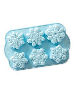 Nordic Ware Frozen 2© snowflake bakvorm 6 stuks aluminium lichtblauw