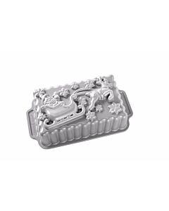 Nordic Ware Santa's Sleigh broodbakvorm 20 x 12,7 x 7,5 cm aluminium grijs