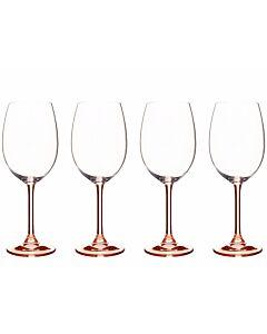Bitz wijnglas 450 ml kristalglas roze 4 stuks