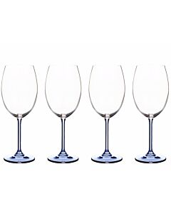 Bitz wijnglas 450 ml kristalglas blauw 4 stuks