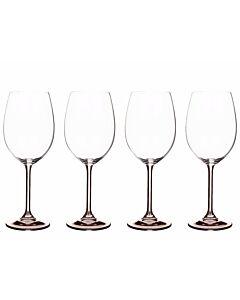 Bitz wijnglas 450 ml kristalglas grijs 4 stuks