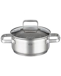 Rösle Charm lage kookpan met glasdeksel ø 20 cm rvs