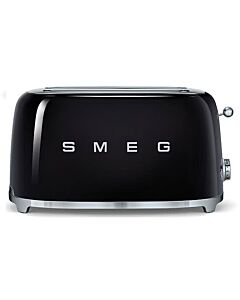 Smeg 50's style broodrooster lang 2 sleuven staal zwart