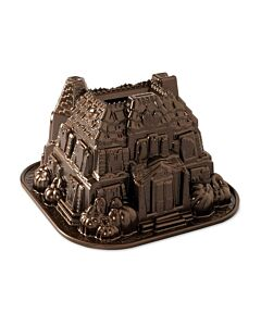 Nordic Ware Haunted Manor bakvorm 2,4 liter gietaluminium bronskleurig