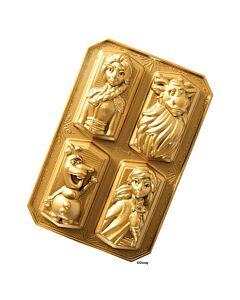Nordic Ware Frozen© bakvorm 4 stuks aluminium goud