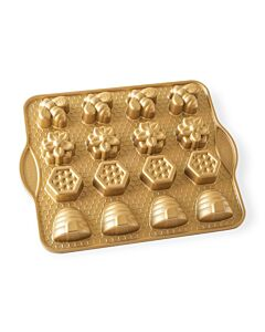 Nordic Ware Busy Bee Bitelets bakvorm aluminium goudkleurig