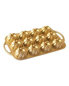 Nordic Ware Braided Mini Bundt 12 tulbanden gietaluminium goudkleurig