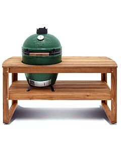 Big Green Egg Acacia Table incl. nest en Large barbecue 150 x 60 x 80 cm