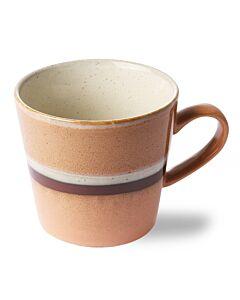 HK Living 70's cappuccinomok 300 ml aardewerk oranje-bruin