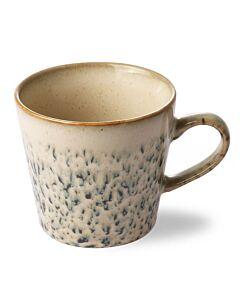 HK Living 70's cappuccinomok 300 ml aardewerk crème-groen