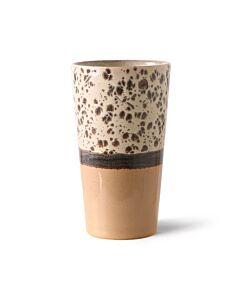 HK Living 70's Tropical Latte Macchiatomok 280 ml aardewerk bruin-oranje