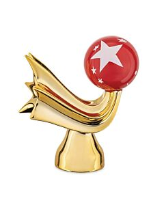 Alessi Happy Eternity Baby Stella Cometa porselein goud/rood