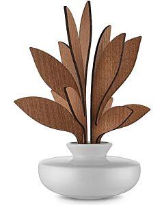 Alessi The Five Seasons geurverdeler Ahhh ø 11,5 cm h 21,5 cm porselein/mahonie wit/bruin