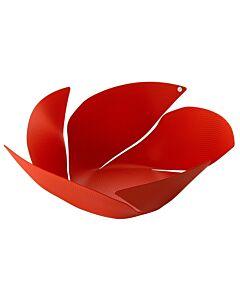 Alessi Twist Again fruitschaal ø 29 cm rvs rood