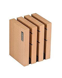 Artelegno Milano magnetisch messenblok 10 x 12 x 15 cm hout naturel
