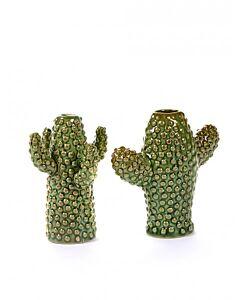 Serax Cactus Mini 12 cm keramiek groen 2-delig