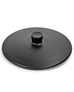Serax Surface by Sergio Herman deksel pan 21 cm aardewerk zwart