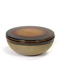Serax Surface by Sergio Herman kom met deksel ø 13 cm rusty brown