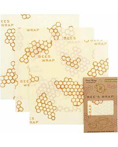 Bee's Wrap medium herbruikbare Food Wrap 27,5 x 25 cm 3-delig