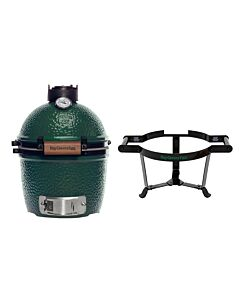 Big Green Egg Mini barbecue ø 25 cm keramiek groen met Carrier