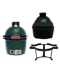 Big Green Egg Mini barbecue ø 25 cm keramiek groen met Carrier en hoes