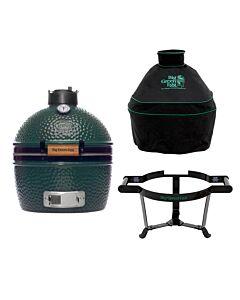 Big Green Egg MiniMax barbecue ø 33 cm keramiek groen met Carrier en hoes