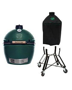 Big Green Egg Extra Large barbecue ø 67,5 cm keramiek groen met onderstel en hoes