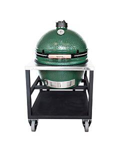 Big Green Egg rvs tafel incl. Extra Large barbecue