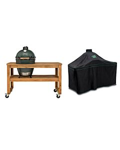 Big Green Egg Acacia Table incl. nest, wielen, hoes en Large barbecue