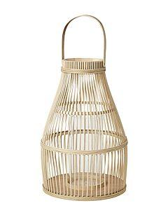 Broste Copenhagen Birdy lantaarn ø 33 cm h 52 cm bamboe-glas