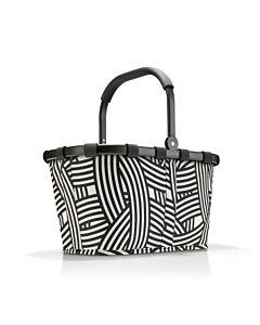 Reisenthel Carrybag boodschappenmand 48 x 28 cm polyester Frame Zebra