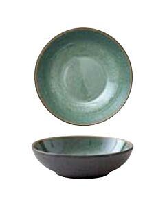 Bitz pastabord ø 20 cm aardewerk Black/Green