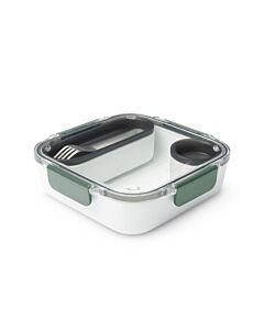 Black+Blum lunchbox 1 liter rvs kunststof Olive 4-delig